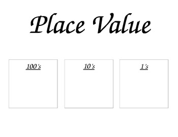 Number of the Day Printable for math meeting time