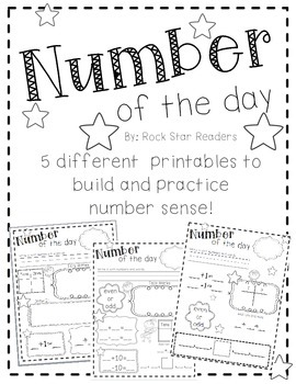 Number of the Day Printables {Build number sense!}