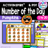 Number of the Day *Pumpkins* Interactive Promethean Board Flipchart & Printables