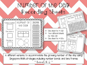 Number of the Day Recording Sheet