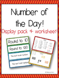 Number of the Day - Resource & Display Pack - Classroom Routine - Math Center!