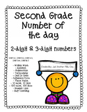 Number of the Day - Second Grade (10 different templates)