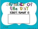 Number of the Day Second Grade Bulletin Board