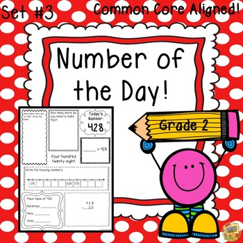 Morning Work Grade 2 Number Sense - Number of Day!  Set #3