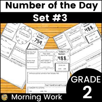 Number Sense - Number of the Day! Set #3 - Computation, nu