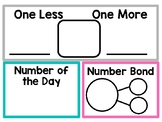 Number of the Day Set {Teal, Pink & Gray Colors}