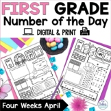 Number of the Day Place Value First Grade Math April