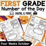 First Grade October Number Of The Day Worksheets   Number