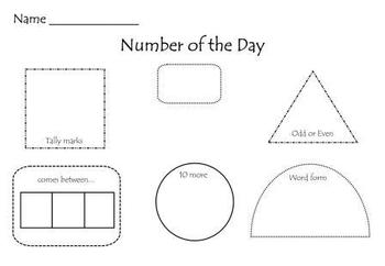 Number of the Day Smart Board Lesson