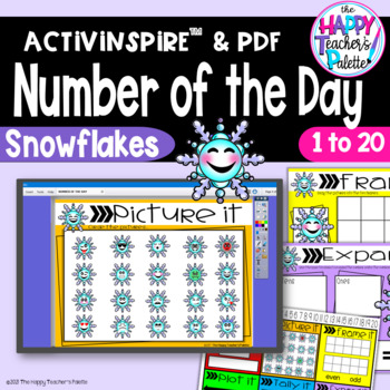 Number of the Day *Snowflakes* Interactive Promethean Board Flipchart Printable