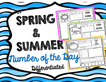 Number of the Day Spring Summer Theme Differentiated