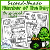 Number Sense Number of the Day St Patty *FREEBIE* Second G
