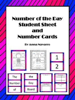 Number of the Day Student Sheet and Number Cards