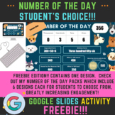 Number of the Day Student's Choice FREEBIE! Distance Learn