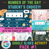 Number of the Day Student's Choice Pack #1. Distance Learn