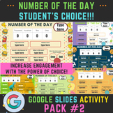 Number of the Day Student's Choice Pack #2. Distance Learn