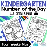 Number Sense Google Slides™ Number of the Day Kindergarten May