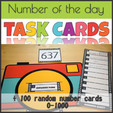 Number of the Day Task Card Slider