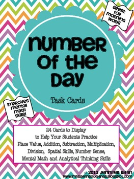 Number of the Day Task Cards {Upper Elementary Edition}