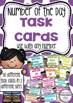 Number of the Day Task Cards - Use with any number
