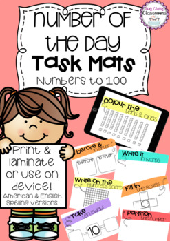 Number of the Day Task Mats - Numbers to 100