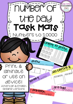 Number of the Day Task Mats - Numbers to 10000