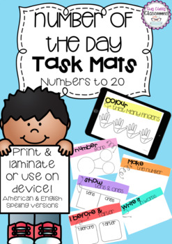 Number of the Day Task Mats - Numbers to 20