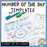 Number of the Day Templates: Number Sense to 6 digit numbe