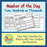 Place Value Number of the Day - Tens, Hundreds or Thousands