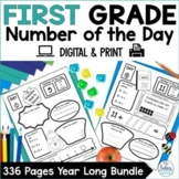 Math Centers Place Value Worksheets Math First Grade Bundle Number of the Day