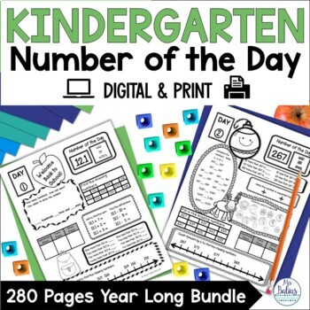 Kindergarten Back to School Number of the Day Whole Year Bundle