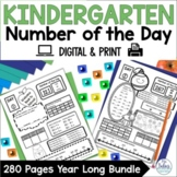 Place Value Kindergarten Number of the Day Morning Work