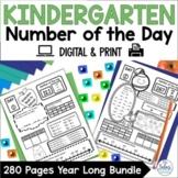 Number of the Day Worksheet Bundle | Number Sense | Kinder