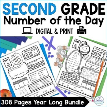 Second Grade Math Back to School Place Value Bundle Number of the Day