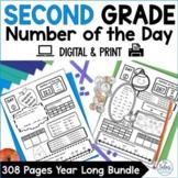 Number of the Day Worksheets DIGITAL Bundle | Number Sense
