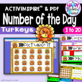 Number of the Day *Turkeys* Interactive Promethean Board Flipchart Printables