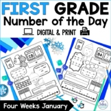 Number Sense Place Value Practice Number of the Day First Grade January