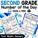 Winter Second Grade Math Place Value Number of the Day New Year