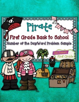 Number of the Day Word Problem Sample Printables {Pirate Theme}