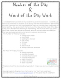 Number of the Day & Word of the Day