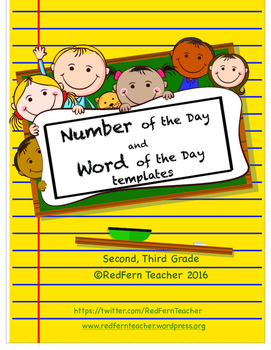 Number of the Day, Word of the Day Template - Second Third Grade