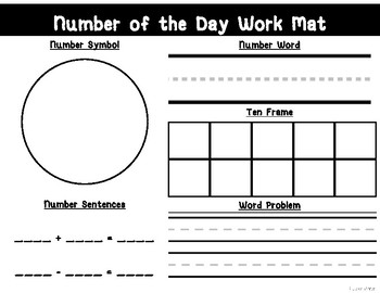 Number of the Day Work Mat