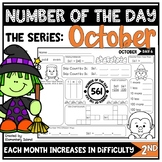 Number of the Day Worksheet Series for October
