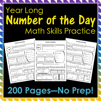 Number of the Day Year Long Math Skills Practice
