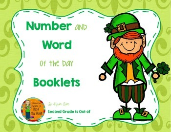 Number and Word of the Day for Morning Work or Warm Ups