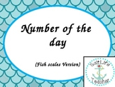 Number of the Day cards - Blue Fish Scale Version