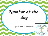 Number of the Day cards - Green Chevron Version
