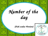 Number of the Day cards - Green Shamrock Version