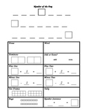 Number-of-the-Day daily worksheet