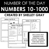 Number of the Day: Numbers Between 10 & 600 {developing number sense}